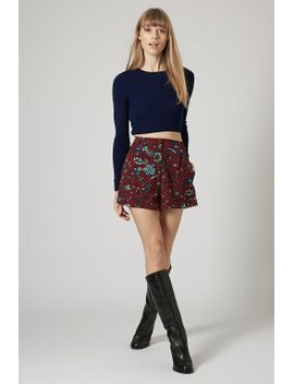 blueberry-flower-print-shorts by topshop