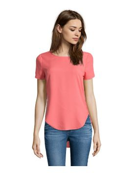 coral-short-sleeve-hi-low-blouse by style