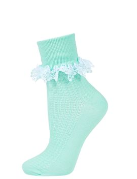 crochet-trim-ankle-socks by topshop