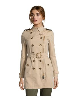 burberry-brit-honey-cotton-anthornlt-double-breasted-belted-trench by burberry