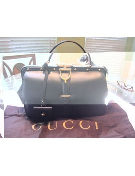 brand-new-gucci-lady-stirrup-studded-leather-doctors-bag-purse--black-nwt-$3800 by gucci