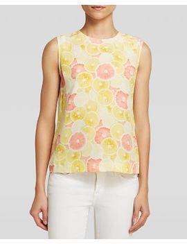 top---reagan-sleeveless-citrus-print-silk by equipment