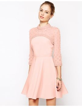 asos-cluster-embellished-skater-dress by asos-collection