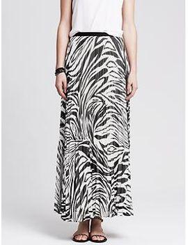 heritage-zebra-pleated-patio-skirt by banana-repbulic