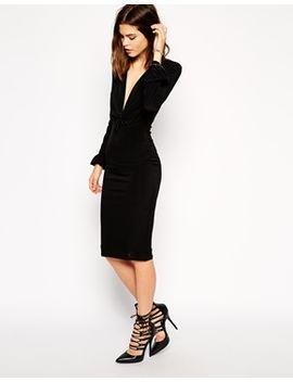 asos-sexy-hustle-plunge-body-conscious-dress by asos-collection