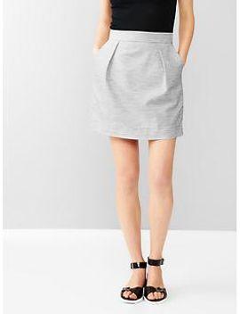 heathered-pleated-mini-skirt by gap