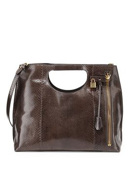 alix-python-shopper-tote-bag,-graphite-dark-gray by tom-ford