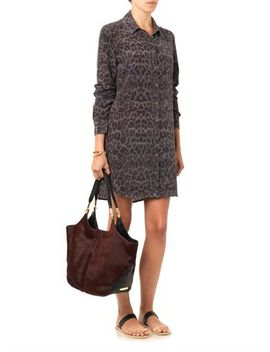 brett-leopard-print-silk-shirt-dress-(208223) by equipment