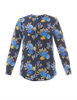 lynn-floral-print-silk-blouse-(200059) by equipment