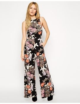 asos-wide-leg-jumpsuit-in-floral-print-with-cut-out by asos-collection