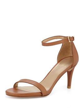 nunaked-mid-heel-ankle-strap-sandal,-miel by stuart-weitzman