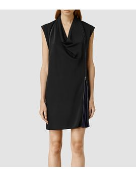caro-pleat-dress by allsaints