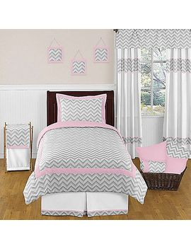 sweet-jojo-designs-zig-zag-comforter-set-in-pink_grey by bed-bath-and-beyond