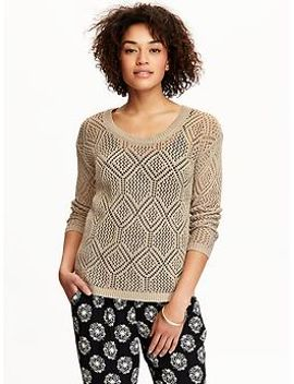 womens-pointelle-knit-sweaters by old-navy
