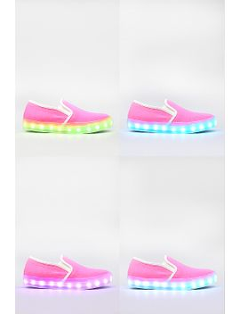 7-color-led-light-up-neon-canvas-slip-on-sneaker by urbanog