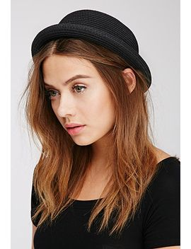 straw-roll-brim-bowler-hat by forever-21