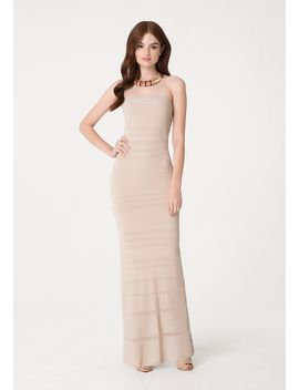 sheer-strapless-maxi-dress by bebe