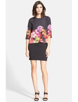 cadie-floral-print-popover-tunic-dress by ted-baker-london