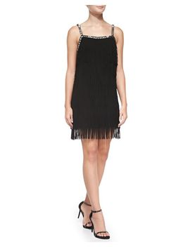sleeveless-beaded-top-fringe-dress by yoana-baraschi