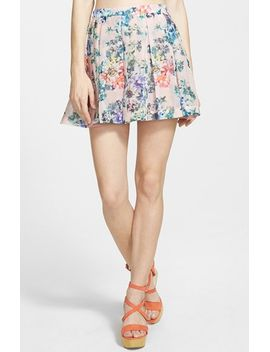 pleated-floral-miniskirt by lucca-couture