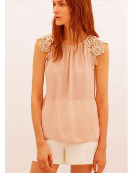 feitong-new-women-fashion-summer-lace-floral-hollow-splice-sleeveless-chiffon-shirt-tops-blouses-free-shipping&wholesales by ali-express