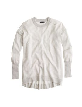 petite-merino-cotton-tunic-sweater by jcrew