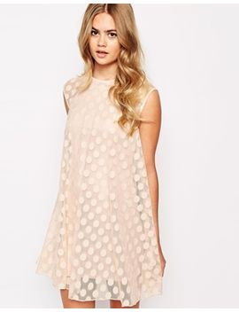 river-island-mesh-spotty-swing-dress by river-island