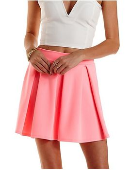 neon-pleated-skater-skirt by charlotte-russe
