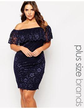 lipstick-boutique-plus-lace-bardot-pencil-dress by lipstick-boutique-plus
