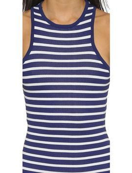 stripe-cross-back-dress by joa