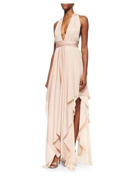 lyndon-belted-deep-v-maxi-dress by alice-+-olivia