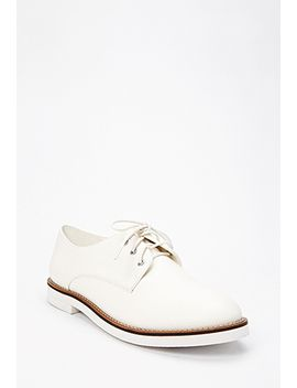 textured-faux-leather-oxfords by forever-21