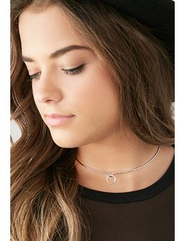 cutout-circle-charm-choker by forever-21