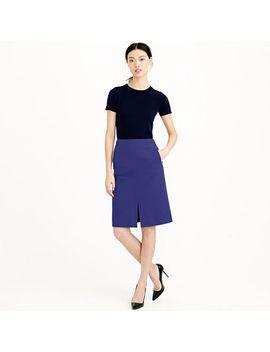petite-a-line-skirt-in-bi-stretch-cotton by jcrew