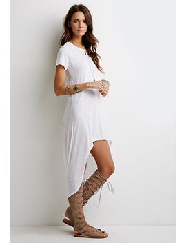 crescent-hem-t-shirt-dress by forever-21