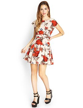 nature-inspired-skater-dress by forever-21