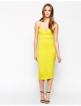 oh-my-love-body-conscious-midi-dress-with-sweetheart-neckline by oh-my-love