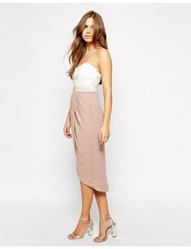 tfnc-hannah-bandeau-dress-with-wrap-front by tfnc
