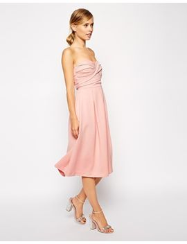 asos-bandeau-midi-with-twisted-bodice-dress by asos-collection