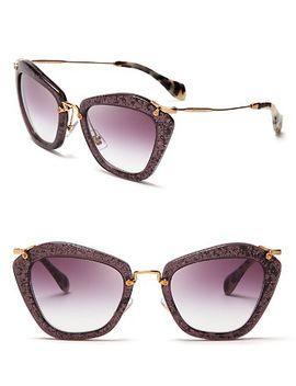 glitter-noir-cat-eye-sunglasses by miu-miu