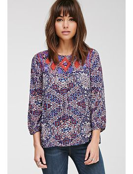 embroidered-diamond-print-top by forever-21