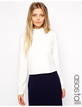 asos-tall-turtle-neck-top-in-ponte by asos-collection