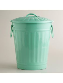 mint-retro-galvanized-trash-can by world-market