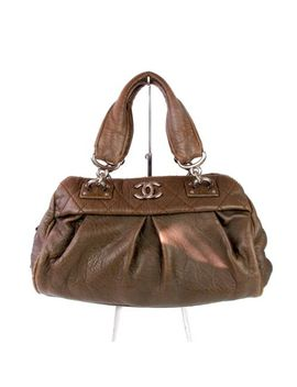 chanel-le-marais-brown-leather-tote-bag-cc---shoulder-handbag-boy-shopper-satche by chanel