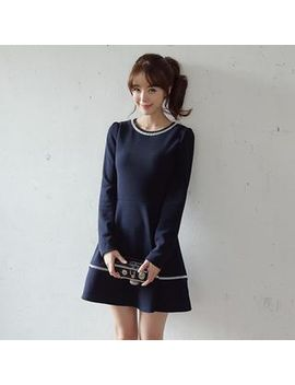 scoop-neck-a-line-dress by envy-look