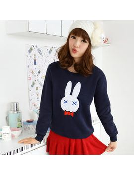 rabbit-print-fleece-pullover by 59-seconds
