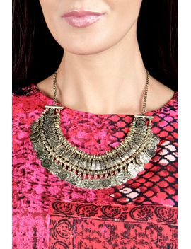 emmie-coin-statement-necklace by boohoo