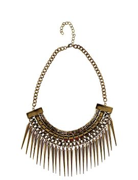 carly-spike-and-chain-necklace by boohoo