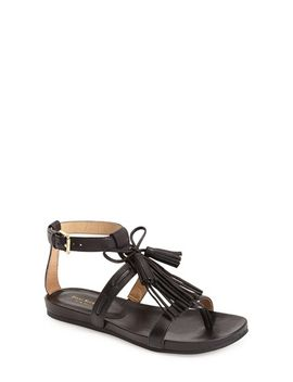 primp-leather-fringe-sandal by isaac-mizrahi-new-york