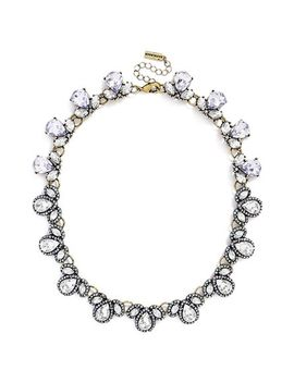 pavé-pear-crystal-collar-necklace by baublebar